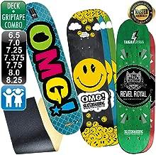 レベルロイヤル(REVEL ROYAL) オーエムジー(OMG!) スケボー スケートボード マスター ロゴ デッキ & グリップテープ デッキテープ キッズ 子供用 有り
