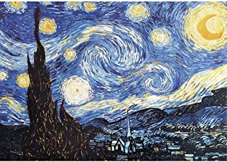 CHengQiSM Jigsaw Puzzles for Adults 2000 Piece Jigsaw Puzzle Starry Night by Vincent Van Gogh 27.56 x 39.37 Inches