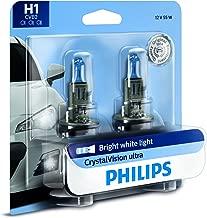 Philips H1 CrystalVision Ultra Upgrade Bright White Headlight Bulb, 2 Pack