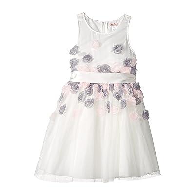 Nanette Lepore Kids Mesh Dress with 3-D Roses (Little Kids/Big Kids) (White) Girl
