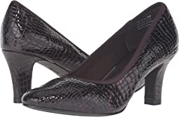 Brown Croc Patent Print