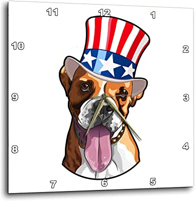 3dRose Patriotic American Dogs Bernese Mountain Dog Wearing top hat with American Flag on it T-Shirts