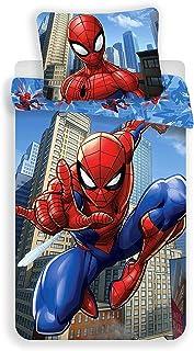 Spiderman Marvel Blue – Juego de cama infantil – Funda nórdica de algodón
