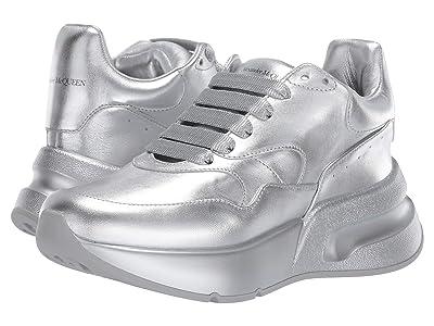 Alexander McQueen Oversized Runner Sneaker (Silver/Silver) Women