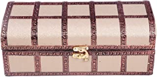 Amar Impex Brocade Wooden Bangle Box with One Rod & Lock System,(Copper Red)