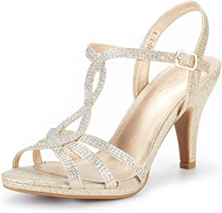 gold strappy prom shoes
