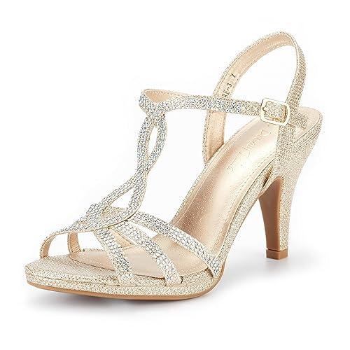 412ca32c5d DREAM PAIRS Women's Amore Fashion Stilettos Open Toe Pump Heel Sandals