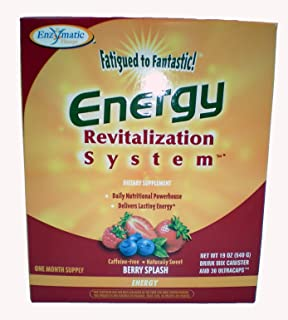 Fatigued to Fantastic Energy Revitalization System Berry Splash 30 day supply by Enzymatic Therapy 21.5 oz