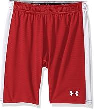 Under Armour Boys' Threadborne Match Shorts, Red (600)/White, Youth X-Small