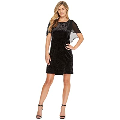 B Collection by Bobeau Pery Velvet Cape Dress (Black) Women