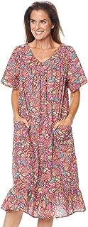 AmeriMark Casual V Neck Print Sun Dress with Pockets