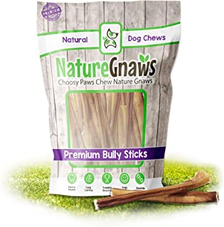 Nature Gnaws Small Bully Sticks - 100% Natural Grass-Fed...