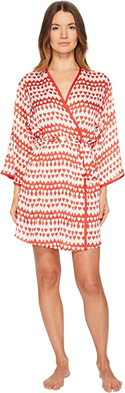 Kate Spade New York - Crinkle Chiffon Heart Robe