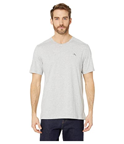 Tommy Bahama Cotton Modal Knit Jersey T-Shirt (Heather Grey) Men