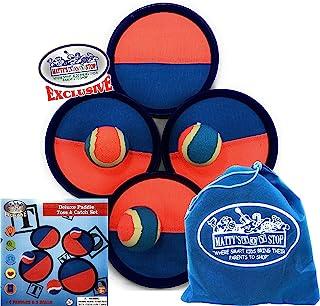 Matty's Toy Stop Deluxe - Juego de palas con 4 palas, 3 bolas y bolsa de almacenamiento