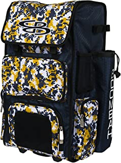 "Best Boombah Rolling Superpack Baseball/Softball Gear Bag - 23-1/2"" x 13-1/2"" x 9-1/2"" - Camo Series 20 Colors - Telescopic Handle and Holds 4 Bats - Wheeled Version Review"