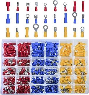 DEDC 480Pcs Insulated Electrical Automotive Wire Assortment Terminals Crimp Wiring Connectors Kit Butt Spade Case Set Color Assorted