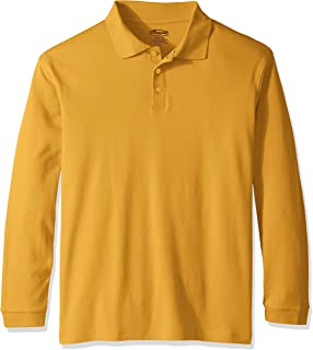 Men's Adult Unisex Long Sleeve Interlock Polo