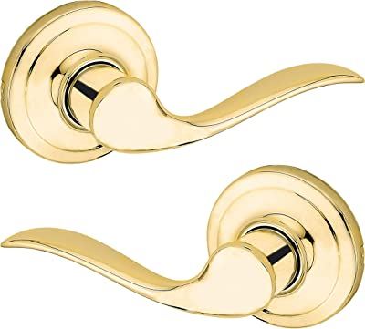 Kwikset Maximum Security Collection Brass Finish Hall /& Closet RIGHT hand lever