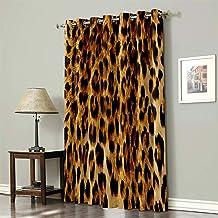 Leopard Animal Print Tiers or Curtain Panels 43W x 24L or Choose 36L 64L or 84L 54L 45L