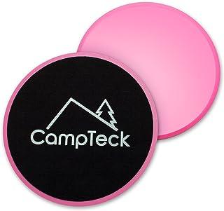 CampTeck U6575 2x Discos Deslizantes Doble Cara Disco Abdominales para Abs Entrenamiento, Hogar, Yoga - para Uso en Alfombra y Pisos Duros - Rosa
