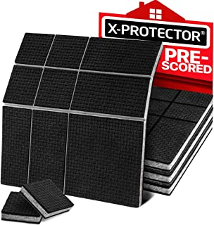 """Non Slip Furniture Pads X-Protector – 4 Sheets 4"""" PRESCORED Furniture Grippers - Non Adhesive Rubber Pads – Perfect Furniture Stoppers – Ideal for Your Furniture!"""