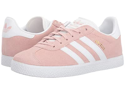 adidas Originals Kids Gazelle (Big Kid) (Icy Pink/White/Gold) Girls Shoes