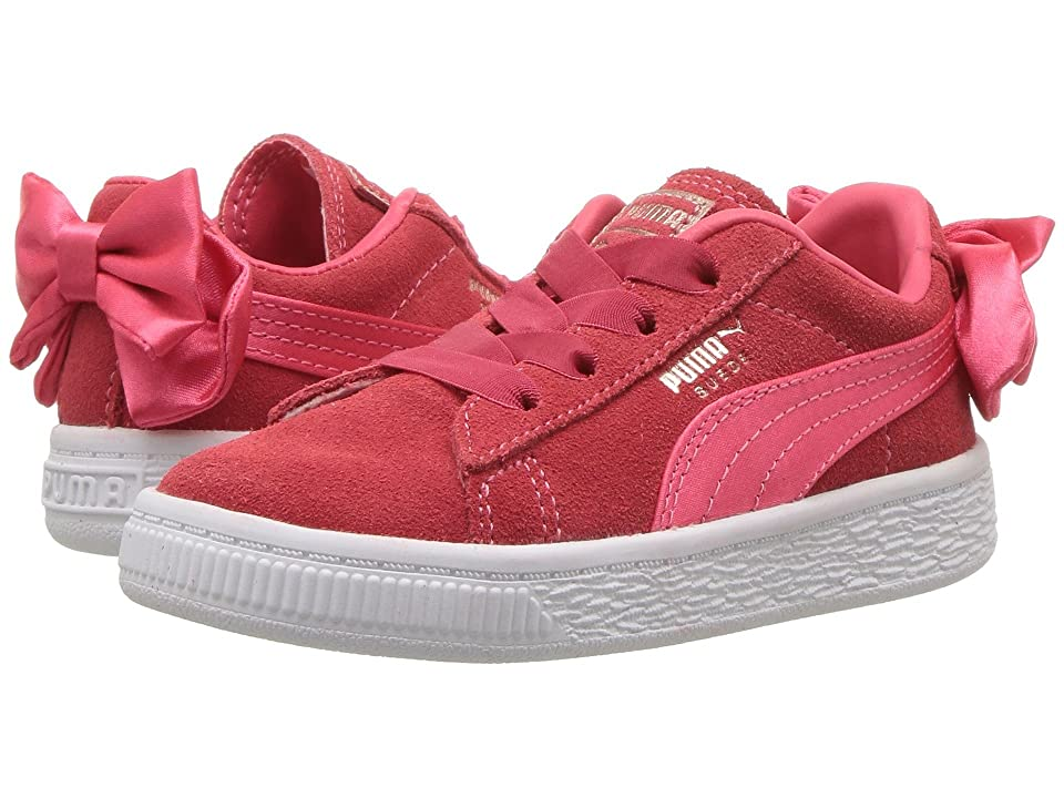 Puma Kids Suede Bow AC INF (Toddler) (Paradise Pink) Girls Shoes