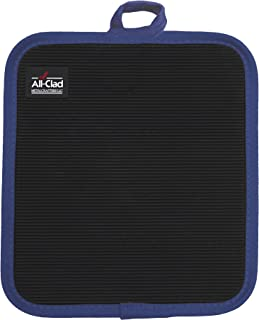 All-Clad Textiles Professional 500-Degree Stain Resistant Cotton Silicone Pot Holder with No-Slip Grip, Cobalt Blue