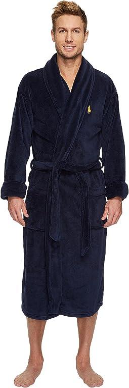 Polo Ralph Lauren - Long Sleeve Microfiber Shawl Collar Robe