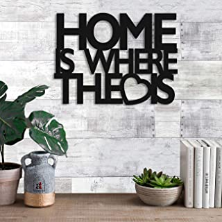 Home Love Wall Plaque, Wall Sign, MDF Cutout Painted for Home Decoration by Art Street