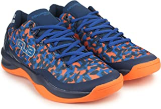 Columbus-Harbour Men's Blue and Orange Mesh PVC Shoes