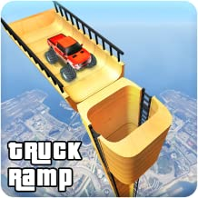 Underwater Vertical Ramp Monster Truck Stunts Game
