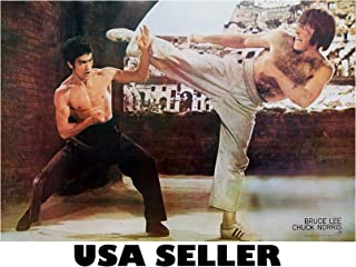 Bruce Lee and Chuck Norris POSTER 31 x 21 Karate Martial Arts Fighting kung fu grainy tae kwon do muay thai (poster sent FROM USA in PVC pipe)