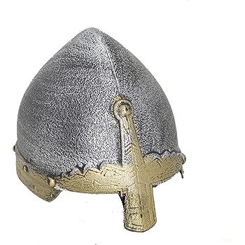 Fabric Black Knight Helmet Hat Costume Medieval Halloween Birthday Party Event