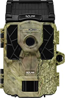 SPYPOINT Solar Trail Camera 12MP HD Video Patented Solar Panel&Rechargeable Built-in Battery, High Power LEDs, Super Low Glow, IR Boost Tech, 2