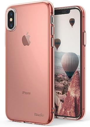 Ringke Air Compatible con Funda iPhone X Ligera como el Aire, Carcasa Protectora Resistente a los arañazos de TPU Transparente Ligera y Fina para iPhoneX, iPhone 10 - Rose Gold