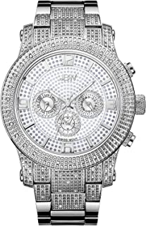 JBW Watch for Men Studded with 80 diamonds, Stainless Steel Band - J6336E