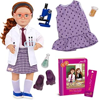 "Our Generation Doll by Battat- Sia 18"" Deluxe Posable Twin Science Fashion Doll with Book & Accessories- for Age 3 Years & Up"