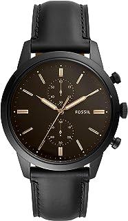 Men's Townsman Chronograph Black-Tone Stainless Steel Watch FS5585