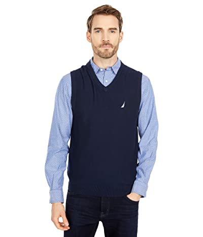 Nautica Navtech V-Neck Sweater Vest (Navy) Men