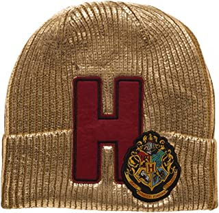 9dcd145e944 HARRY POTTER Hogwarts Metallic Acrylic Coated Beanie Hat