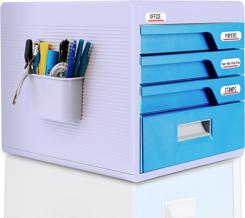 SereneLife SLFCAB20 SLFCAB20 SLFCAB20 Schubladen-Aufbewahrungsbox mit 4 Schlossschubladen, ideal zum Abheften und Organisieren von Papierdokumenten, Werkzeugen, Bastelbedarf für Kinder – SereneLife SLFCAB20 B06XGKZYQH | Neuankömmling  401451
