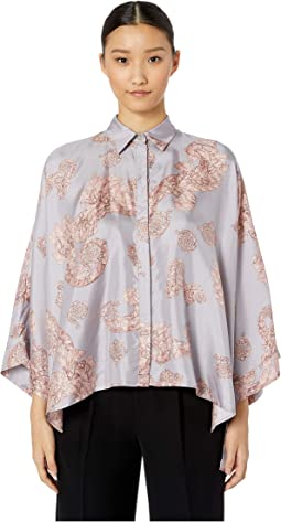 Shirts - Rosa + Stampa Button Up Blouse