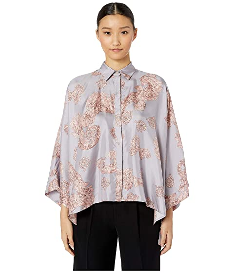 Versace Collection Shirts - Rosa + Stampa Button Up Blouse
