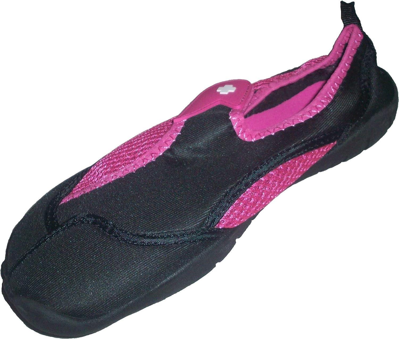 Women's Lifeguard Pink & Black Activity Shoe, Water Shoe, Aqua Shoe, Grip Socks, Outdoor Shoe, Sz 5/6