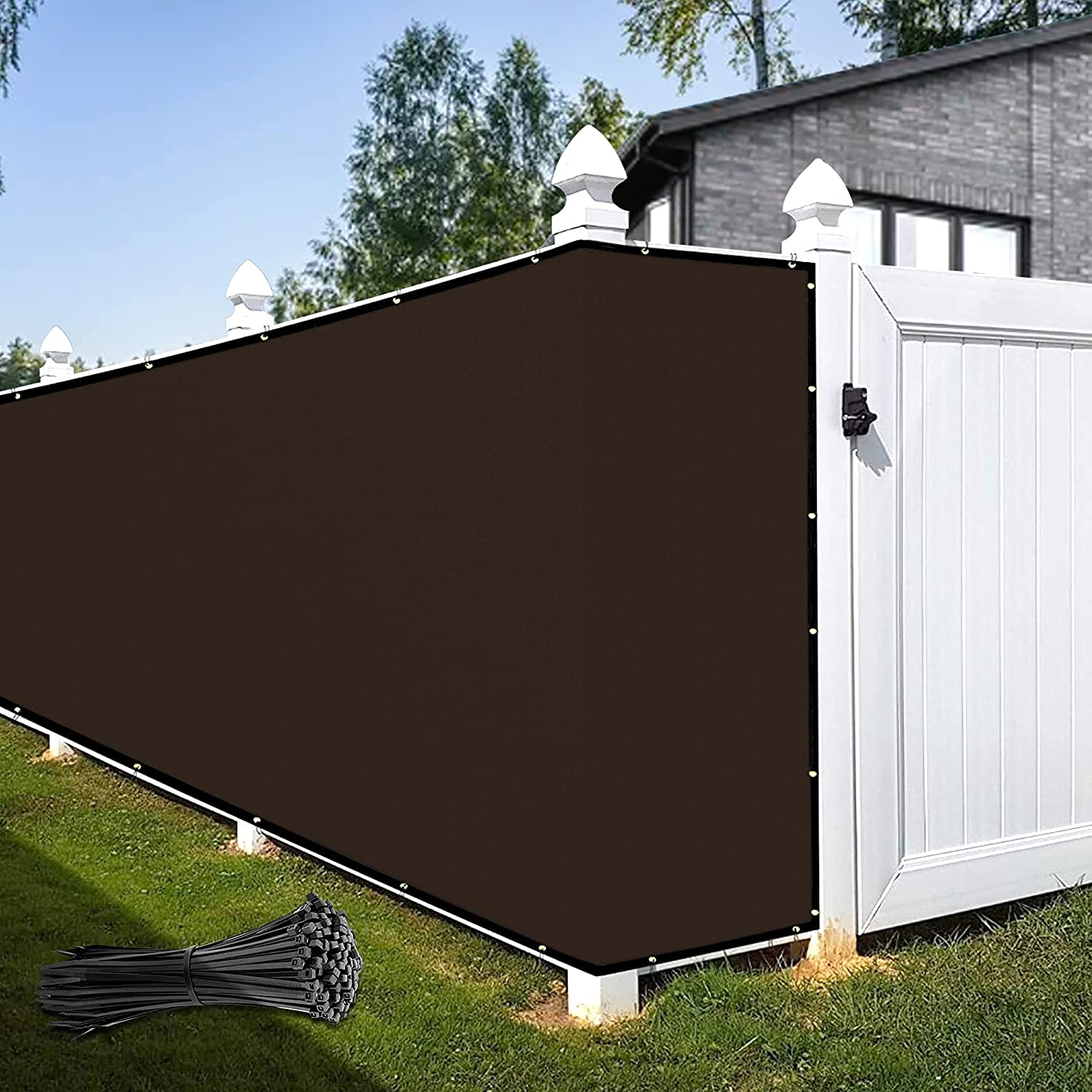 KOOL KOI SHADE Today's only 5' x Challenge the lowest price of Japan ☆ 50' Cover Screen Windscr Brown Fence Privacy