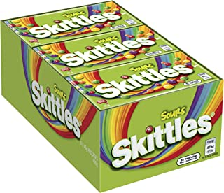 Skittles Bite Sized Sour Chewy Lollies in Box, (9 x 45 Grams)