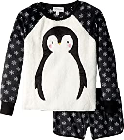 Polar Penguin Fleece Jammies (Big Kids)