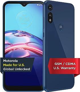 Moto E | Unlocked | Made for US by Motorola | 2/32GB | 13MP Camera | 2020 | Blue, XT2052-1, 2/32 GB | Moto E | 13MP Camera...